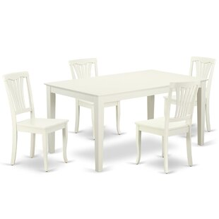 Lafave 5 Piece Solid Wood Dining Set