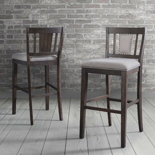 Suzann Slat Back 30 Bar Stool (Set of 2)