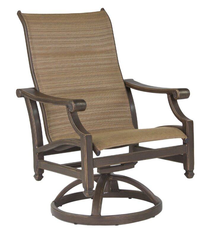 Grand Regent Swivel Patio Dining Chair With Cushion