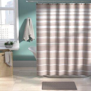 Nakamura Striped Shower Curtain Set