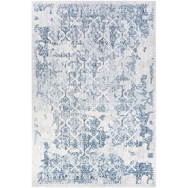 Jakes Steel Blue Ivory Area Rug Reviews Birch Lane