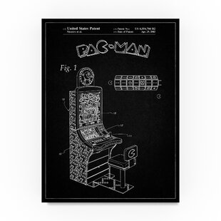 6fc81b28e705  Arcade Machine 1  Drawing Print on Wrapped Canvas