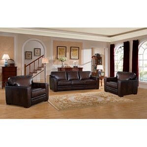 Mcdonald Leather 3 Piece Living Room Set by ..