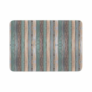 Susan Sanders Coastal Beach Wood Photography Memory Foam Bath Rug