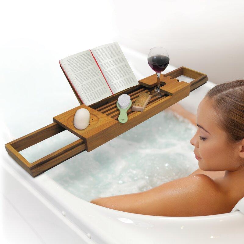 Merveilleux Spa Sensation Teak Bath Caddy