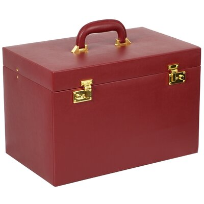 Charlton Home Extra Large Jewelry Trunk Color: Scarlet