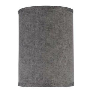 Grey drum shade wayfair 8 fabric drum lamp shade aloadofball Image collections