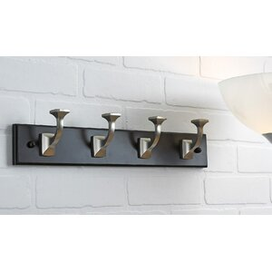 Transitional Wall Mounted Coat Rack