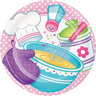 Little Chef Paper Plate (Set of 24)  sc 1 st  Wayfair & Fat Chef Plates | Wayfair