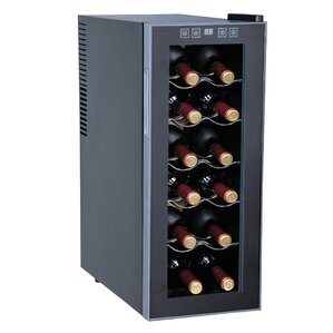12 Bottle Single Zone Freestanding Wine Cooler by Sunpentown