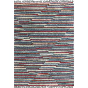 Troy Kilim Hand Woven 100% Wool Red Area Rug