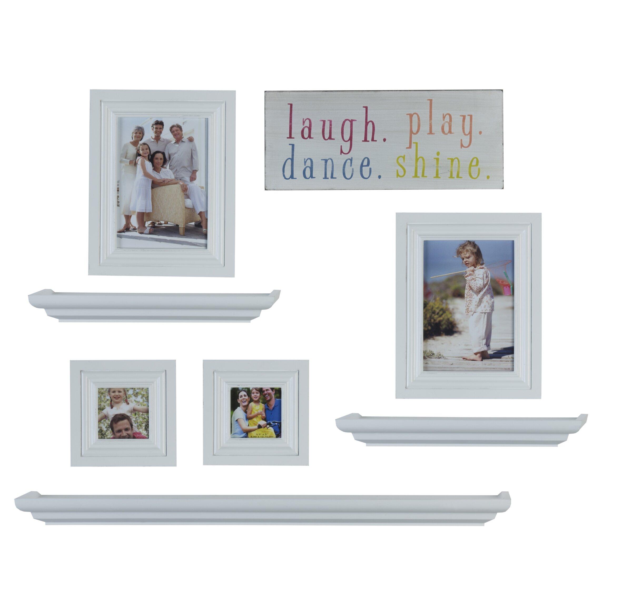 8 Piece Shelf and Frame Set