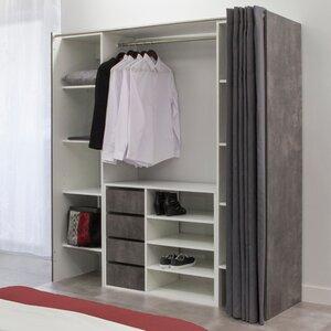 185 cm Kleiderorganisationsystem