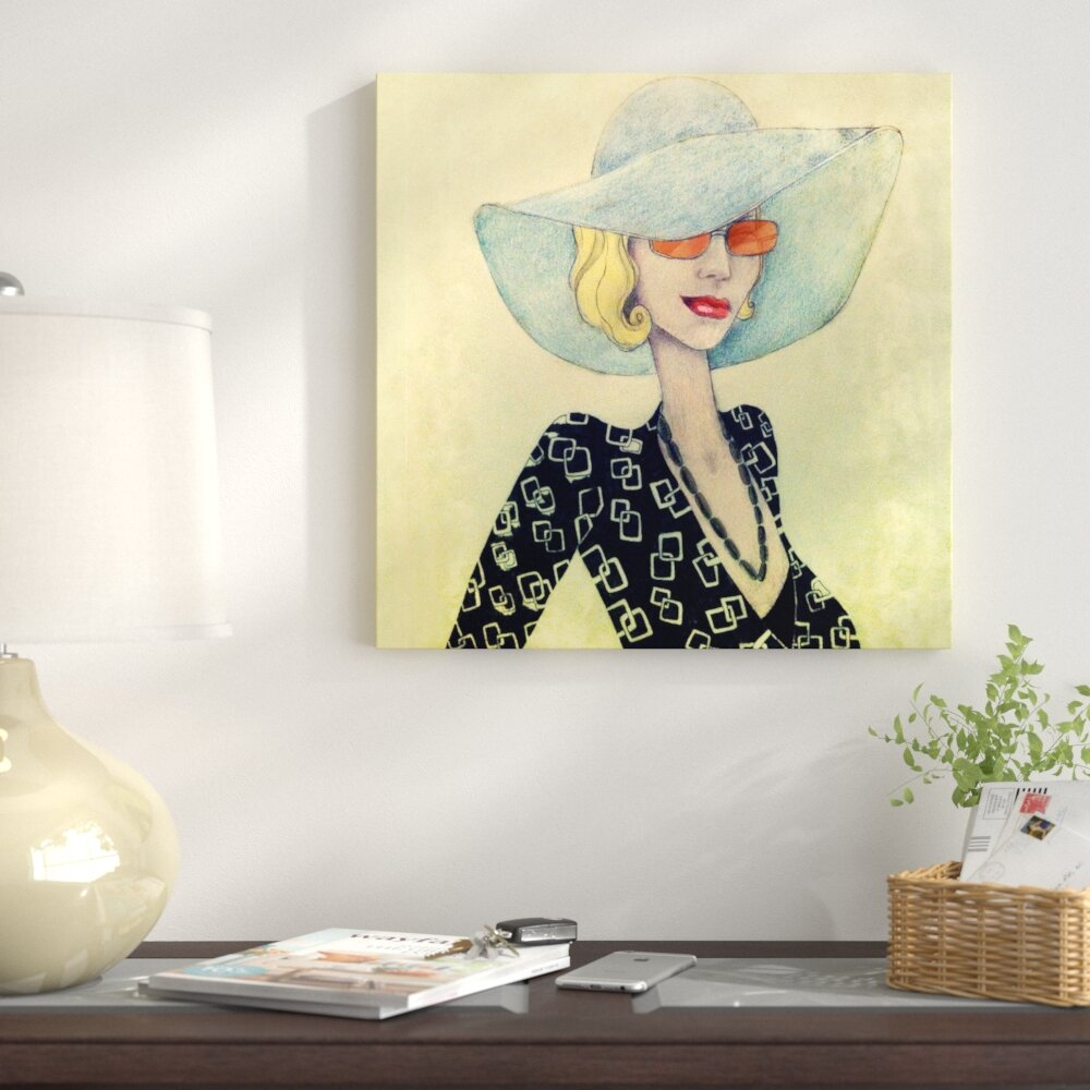 East Urban Home  Lady with Hat  Painting Print on Canvas  30be85d141e