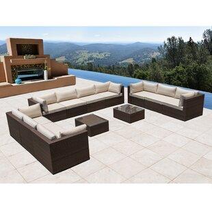 Beau East Hope 12 Piece Sectional Set With Cushions