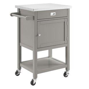 Kitchen Island Stainless Steel Top | Modern Stainless Steel Kitchen Islands Carts Allmodern