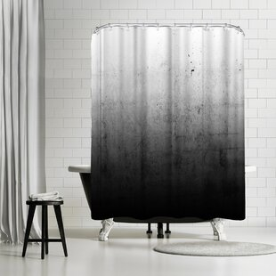 Emanuela Carratoni Black Ombre Shower Curtain