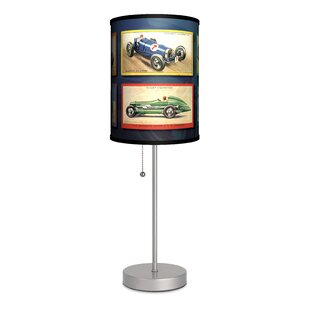Disney cars lamp wayfair transportation race cars 20 table lamp mozeypictures Image collections