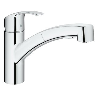 Eurosmart Single Handle Pull Out Standard Kitchen Faucet With Dual Spray  And SilkMove®. By Grohe