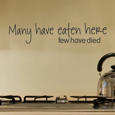 Belvedere Designs LLC Many Have Eaten Here Wall Quotes™ Decal