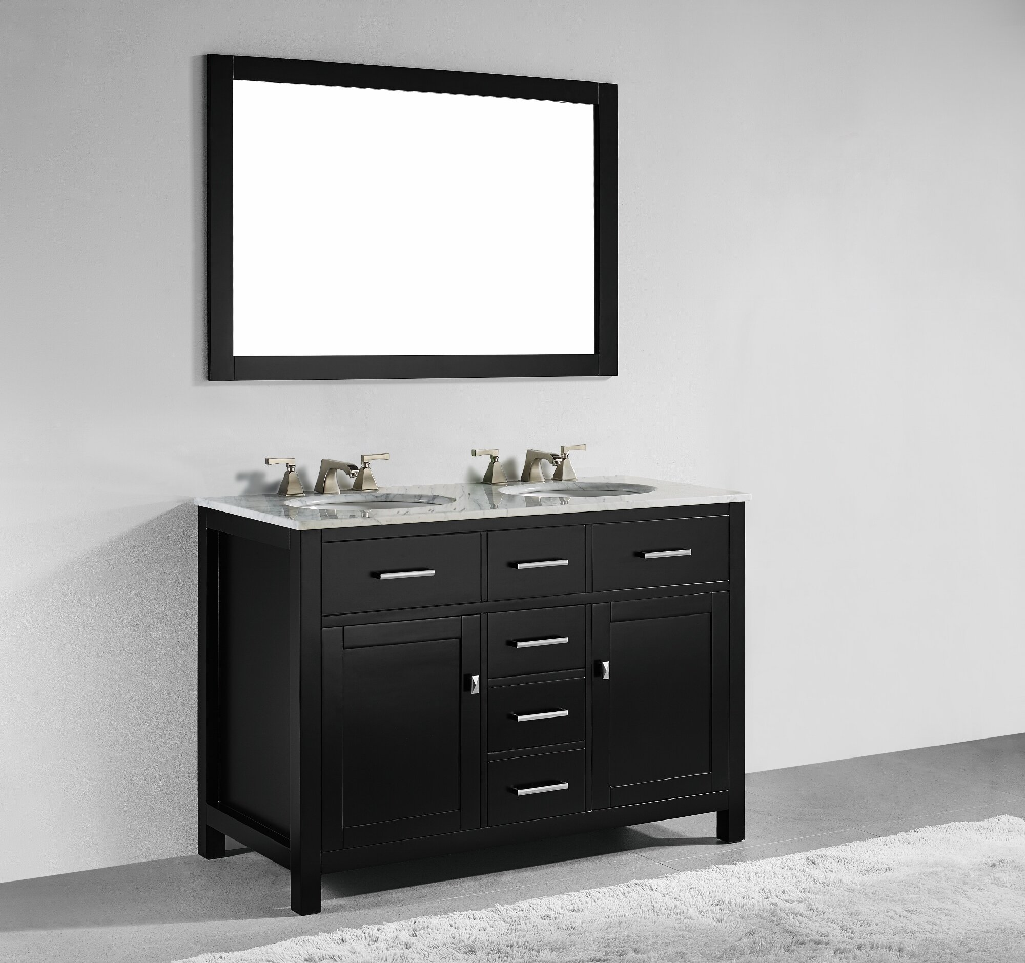willa arlo interiors sverre 48 double bathroom vanity with mirror