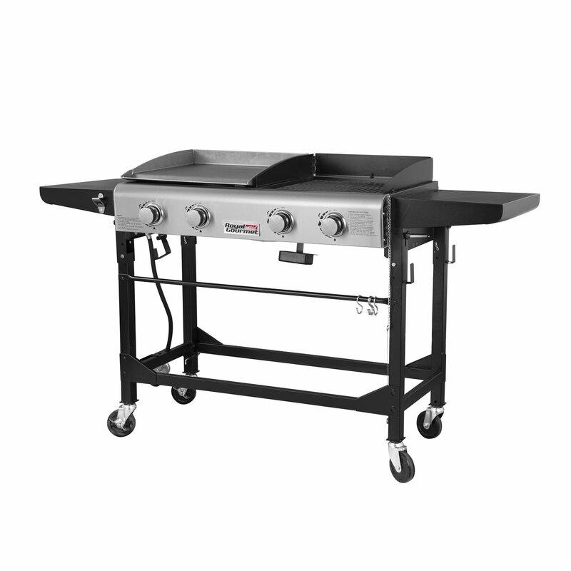 09c7e475db7fe7 Royal Gourmet 4 -Burner Liquid Propane Gas Grill with Griddle ...