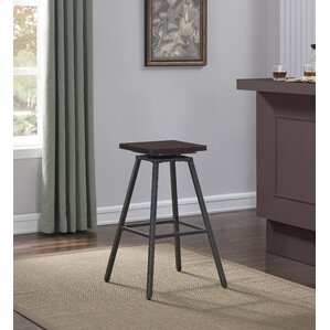 Dierdre Swivel Square Bar Stool by Williston Forge