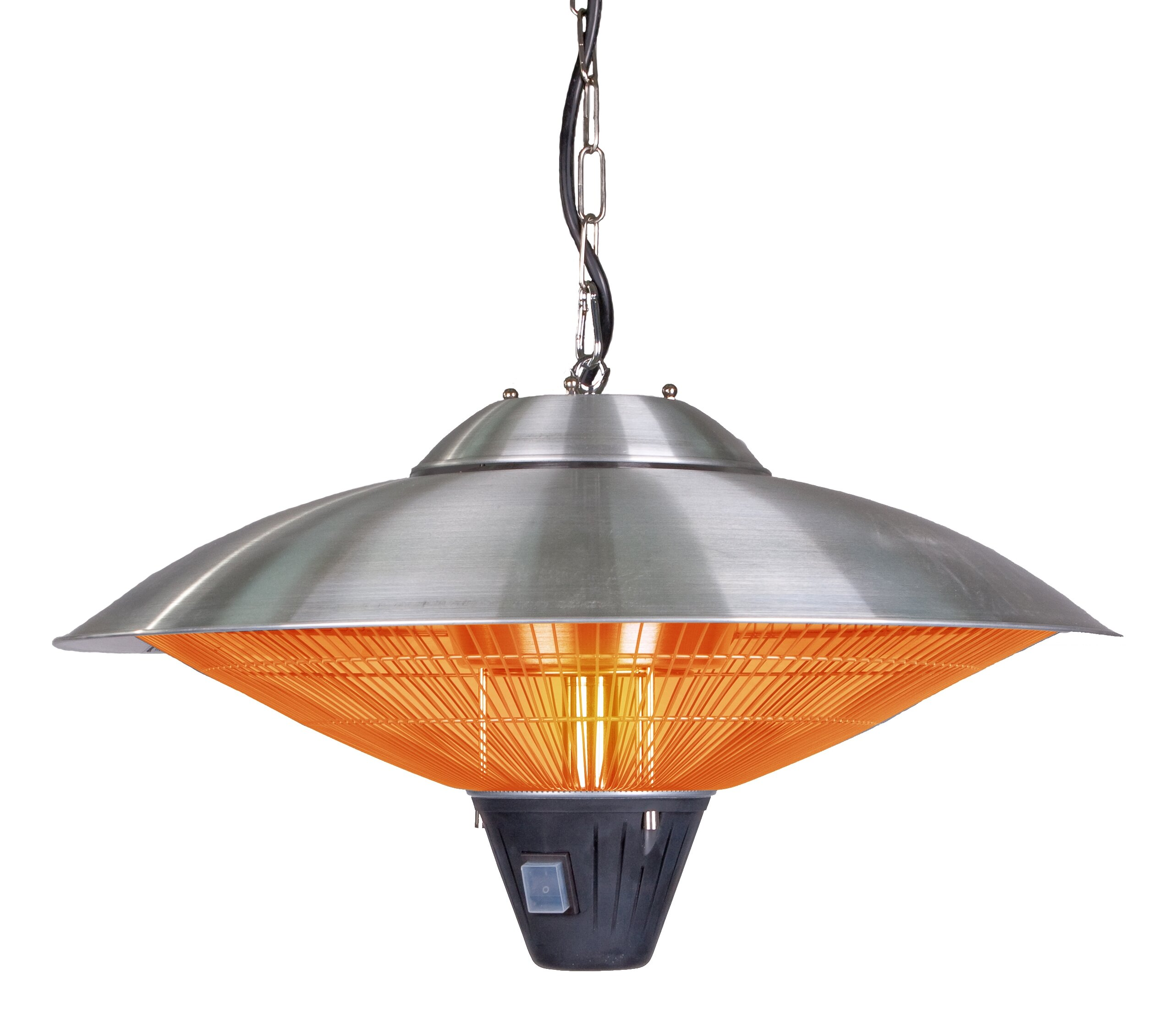 Fire Sense Hanging 1500 Watt Electric Hanging Patio Heater