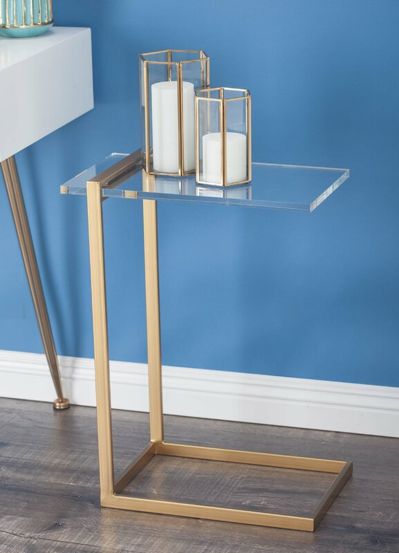 Charmant Metal/Acrylic End Table