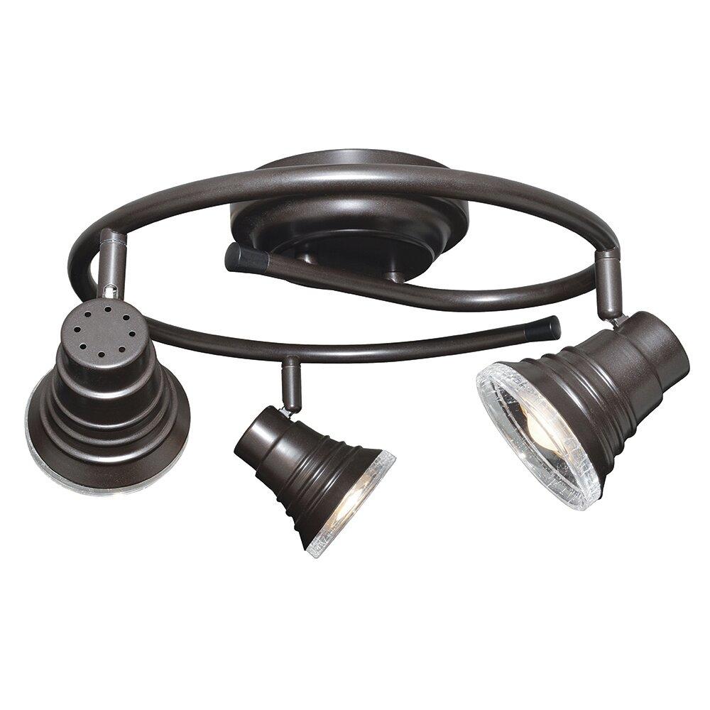3 light led flush mount