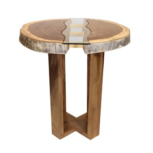 Kroeker Live Edge Pub Solid Wood Dining Table