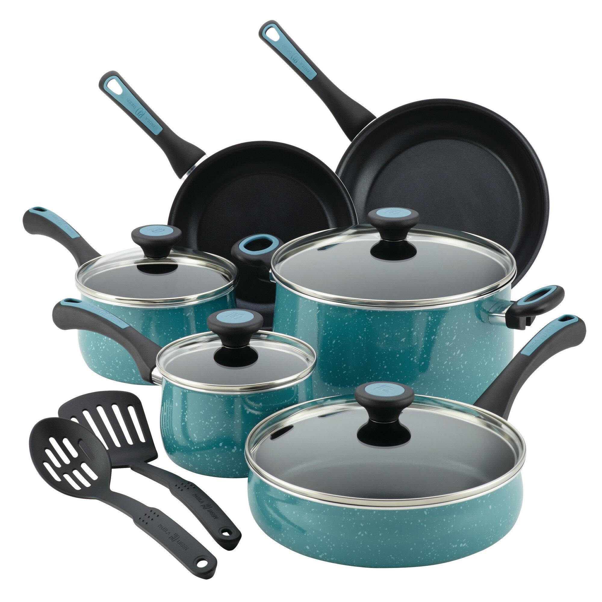 ba5b3be64 Paula Deen Riverbend 12 Piece Aluminum Nonstick Cookware Set & Reviews |  Wayfair
