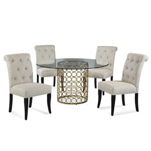 Rockhampton 5 Piece Round Dining Set by W..