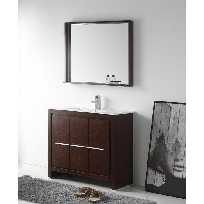 Magnificent Burslem 36 Single Bathroom Vanity Set With Mirror Download Free Architecture Designs Ferenbritishbridgeorg
