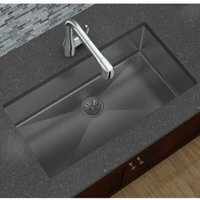 "Undermount Kitchen Single Sink elkay avado 32.5"" x 18"" stainless steel single bowl undermount"