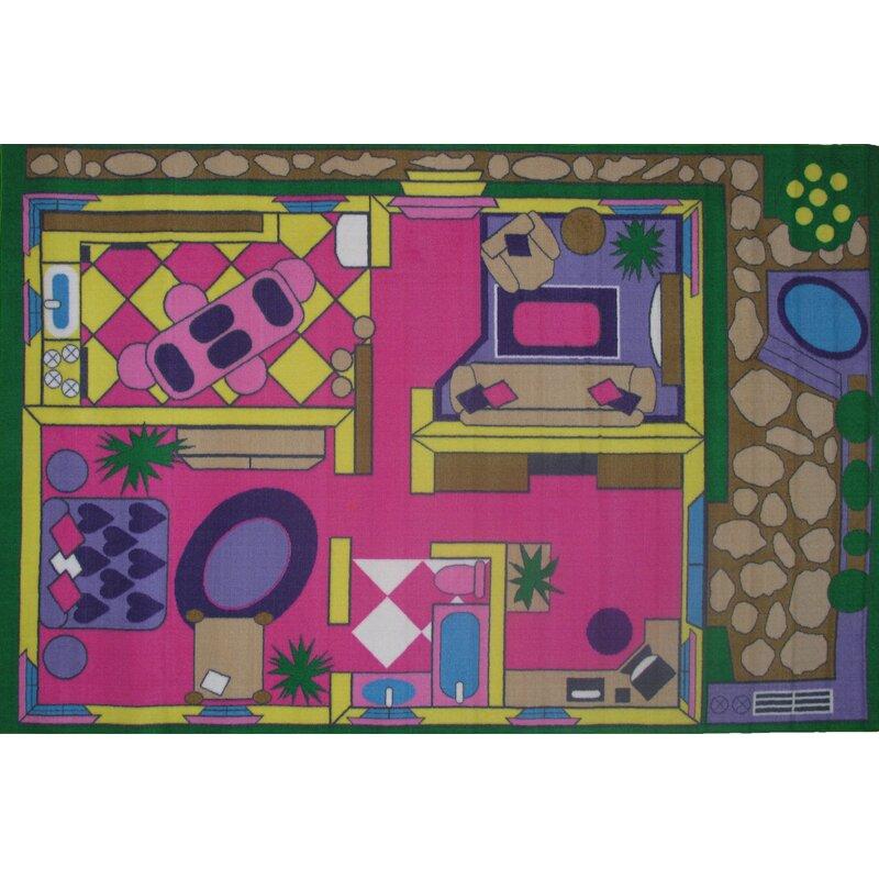 Fun Time Dollhouse Play Area Rug