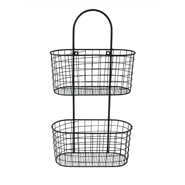 Cheungs Metal Wall Hanging Storage Basket U0026 Reviews   Wayfair.ca