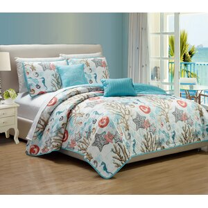 Candelaria 5 Piece Reversible Quilt Set