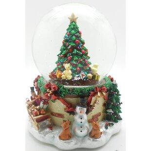 Blowing Snow Christmas Tree Musical Snow Globe