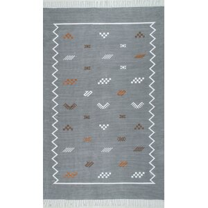 Fisher Hand-Woven Gray Area Rug