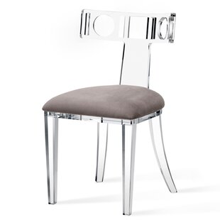 Delicieux Ardsley Acrylic Klismos Upholstered Dining Chair