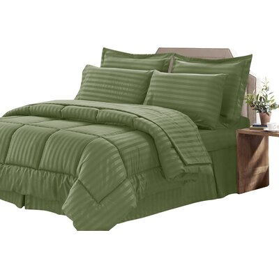 Bay Isle Home Tana 8 Piece Comforter Set Color: Sage, Size: King