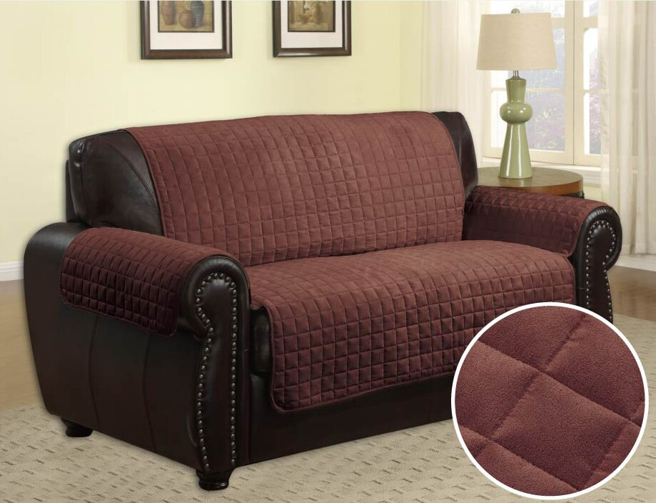 Wayfair Dining Room Chair Covers: LaCozee Quilted Box Cushion Sofa Slipcover & Reviews