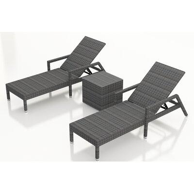 wade logan noelle 6 piece wicker chaise lounger set & reviews