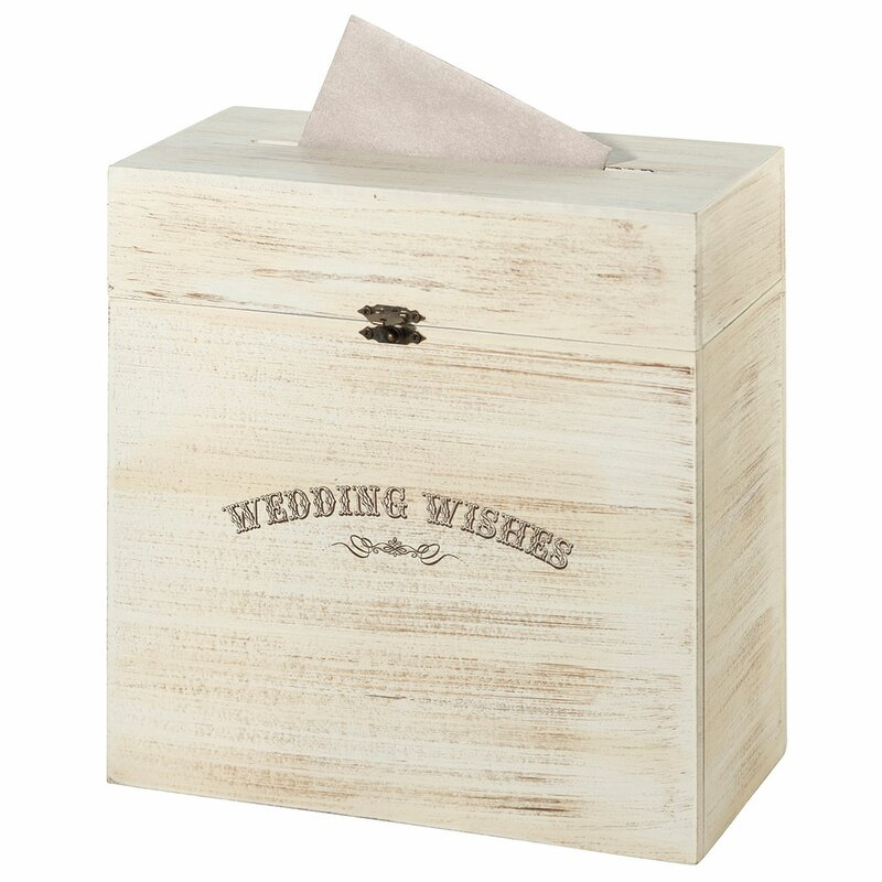 Lillian Rose Wedding Wishes Rustic Wooden Card Box & Reviews | Wayfair