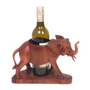 Sarwaedi Elephant 1 Bottle Tabletop Wine Rack by Novica