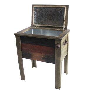 57 Qt. Wooden Patio Cooler