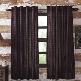 Netto Plaid 100 Cotton Curtain Panels Set Of 2
