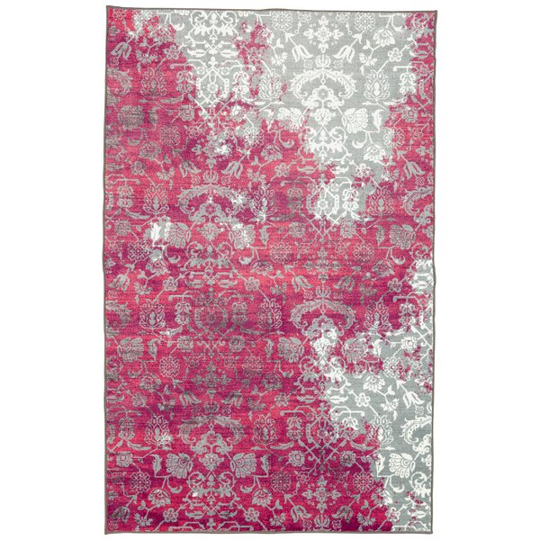 Bungalow Rose Asherman Pinkgray Area Rug Wayfair