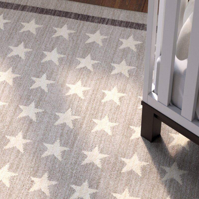Risner Nursery Stars Gray Area Rug
